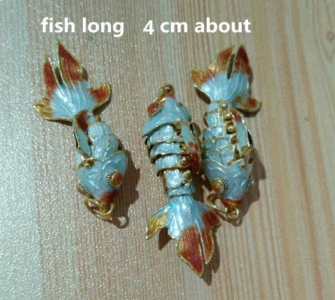5 قطع حية sway المينا لطيف السمك سحر للمجوهرات صنع قلادة سوار قلادة أقراط diy مصوغة بطريقة ذهبية سحر بالجملة