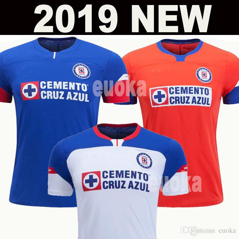 Yeni 2019 2020 Meksika Kulübü Cruz Azul Liga MX Futbol Formalar 19/20 Ev Mavi Deplasman Beyaz Futbol Gömlek camisetas de futbol Geldi