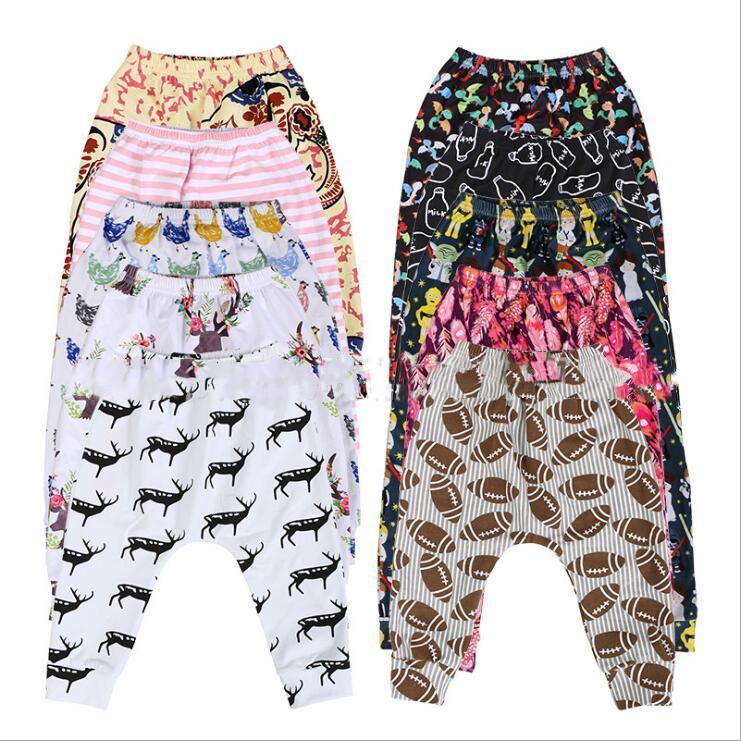 Scherza i pantaloni delle ghette dei ragazzi a strisce Rugby Pantaloni stampa animale semplici Harem Pantaloni Casual Largo-piedino Collant Kids Designer Clothes C6646