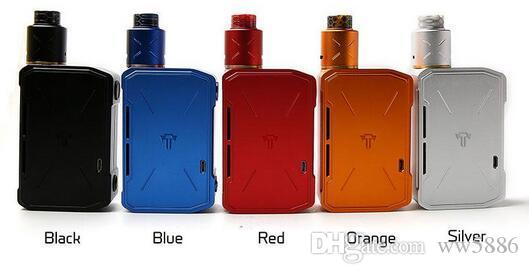 New Authentic Tesla Invader 4 IV Kit 6000mAh with Invader IV 4 RDA Dual Coils E cig Kit without 21700