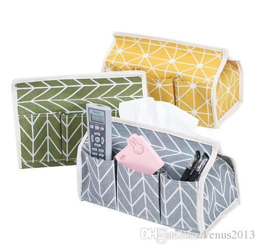 Многофункциональный 6 карманов хлопчатобумажной ткани коробка многофункциональный рабочий стол насосная салфетка держатель бумаги водонепроницаемая сумка для хранения бумажных полотенец