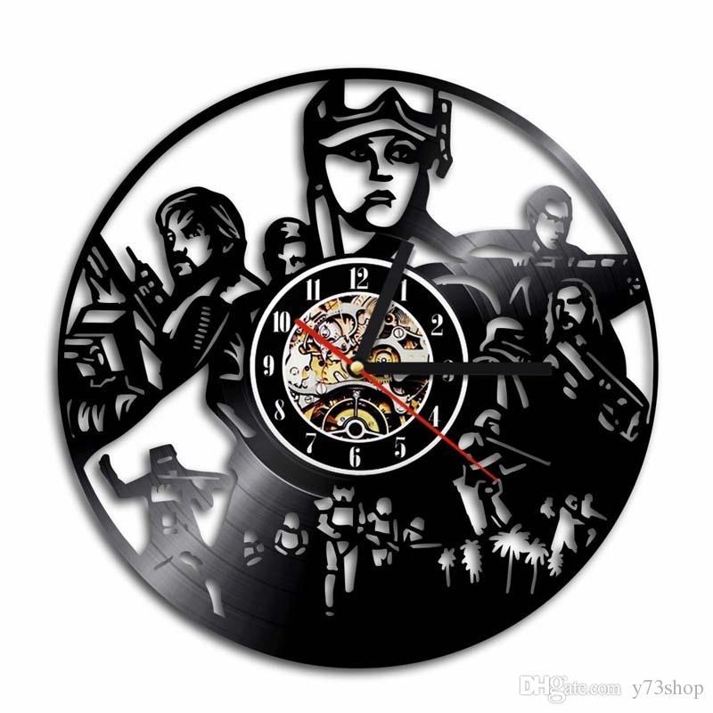 CD Relógio desonestos criativa do registro de vinil relógio de parede Handmade Art Personalidade Gift (Tamanho: 12 polegadas, Cor: Preto)