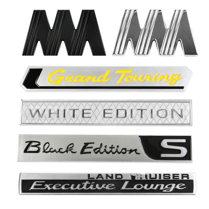 3D per Land Cruiser 2008-2019 Bagagliaio posteriore 3D White Edition distintivo dell'emblema Sticker Trim ABS Plastic Decoration