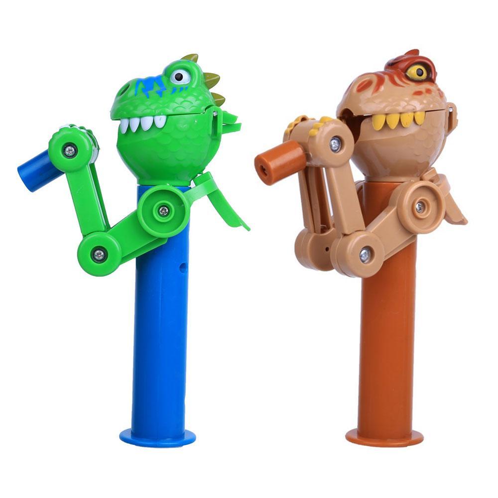 Ребенок ручной смешной динозавр ест леденцы держатель для хранения робота ест леденец стенд держатель подарки детям декомпрессии игрушки
