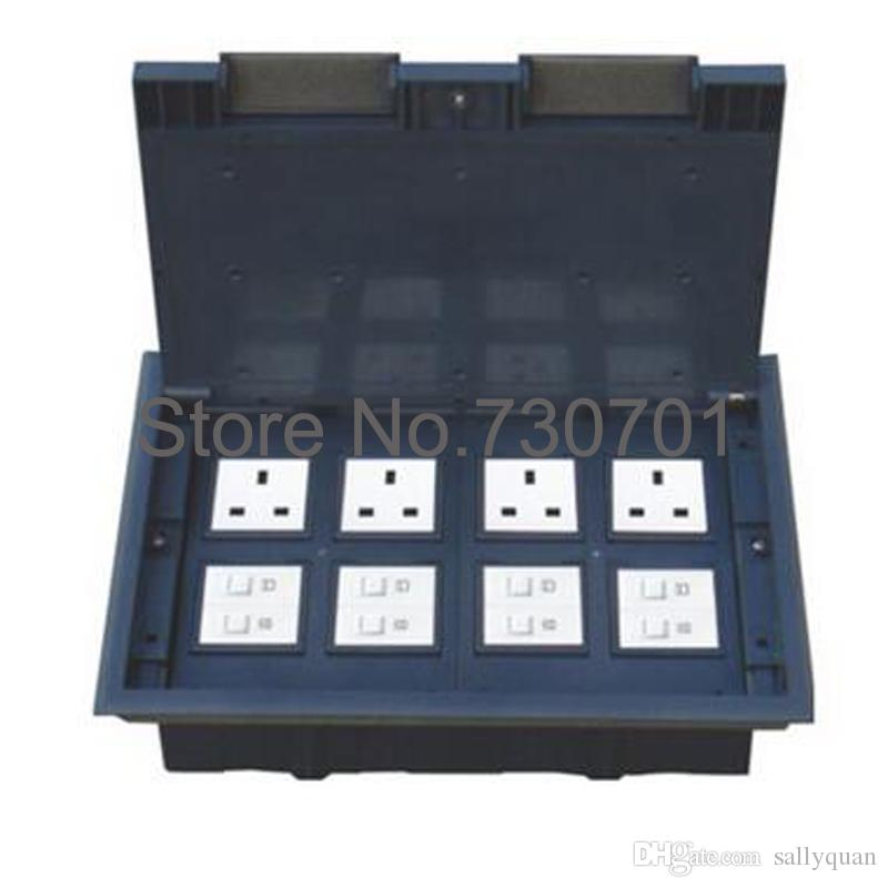 Raised Access Floor Boxes with 8,12,24 Modules Local Power Supply ABS material lid up open 80pcs by DHL