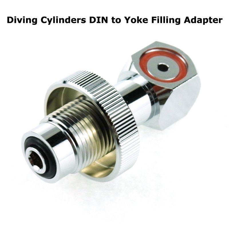 New DIN para Yoke enchimento Adaptador para Scuba tanque / válvula (DIN300)