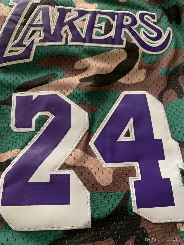 e900cc898735 2019 Kobe 24 Bryant LeBron 23 James Mens 32 Johnson Los Angeles LAK Laker  Mitchell   Ness Straight Fire Camo Swingman Basketball Jersey From  Sang2214