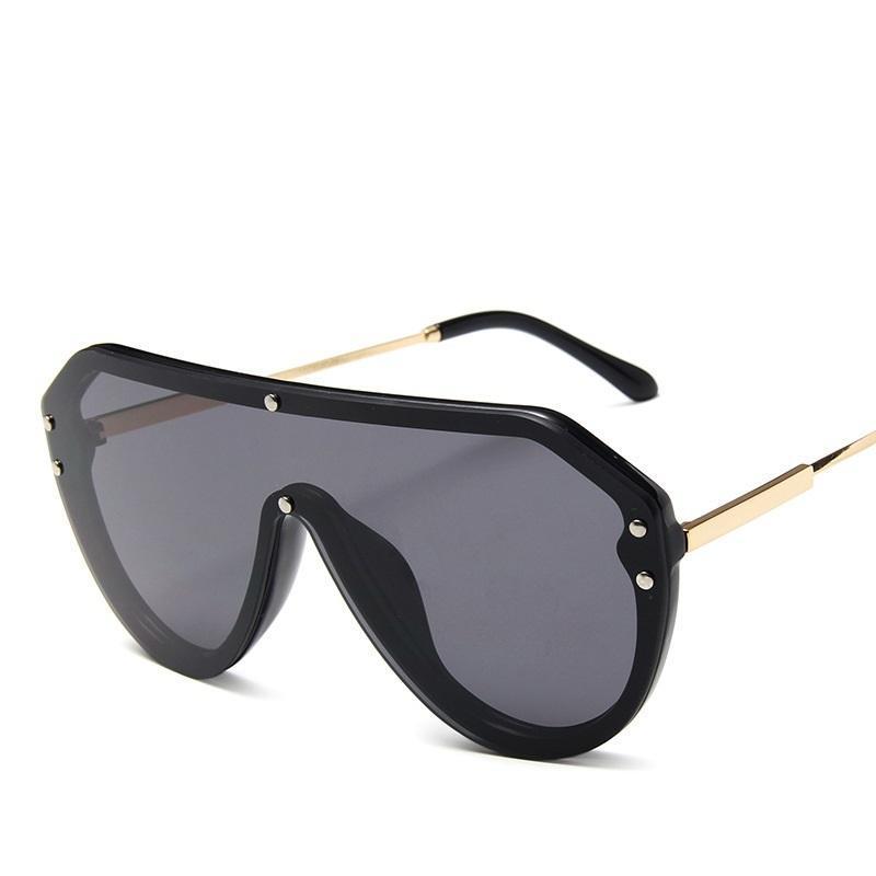 Уникальная интегрированная Цельный солнечные очки ретро Большой кадр очки ночного видения моды Приграничное Человек Женщины Солнцезащитные очки UV400 saOjZ