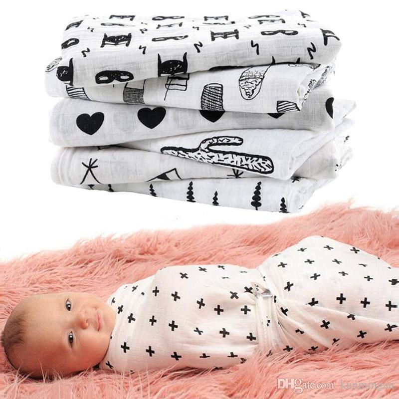 Muslin bebé swaddle manta recién nacido envoltura swaddling wraps toalla de baño