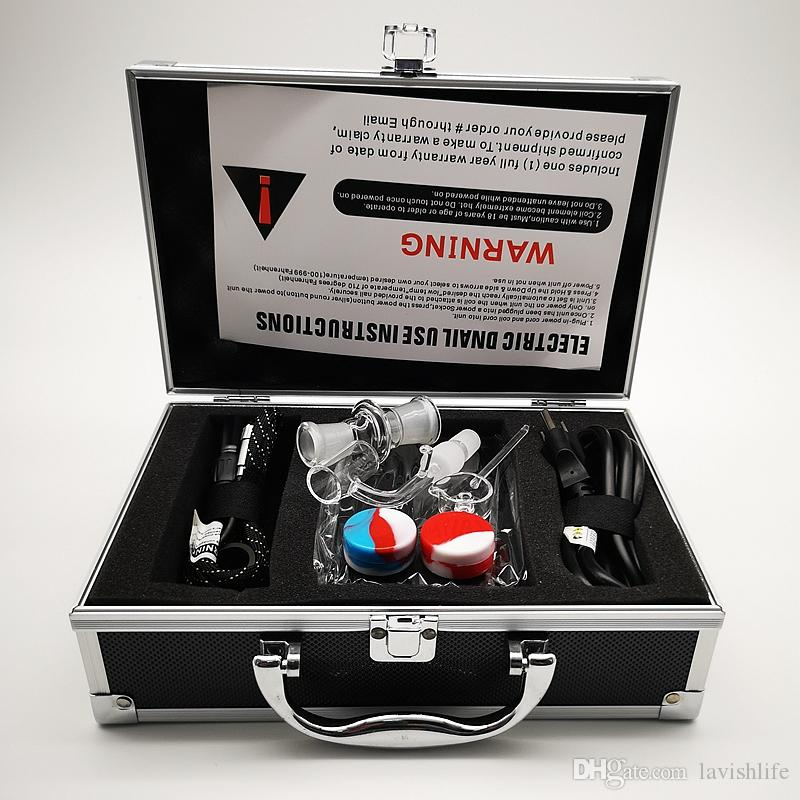Alüminyum Kutu 20mm Bobin Çiviler Elektrik Nail gör dabber Dab Rig BOX06 ile Taşınabilir E Dab Tırnak Elektrikli Sıcaklık Kontrol Kutusu Kuvars Tırnak