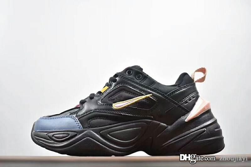 2018 Shoes velho pai New Monarch IV 4 M2K Tekno Trainers Designer de Moda-de-rosa de espuma Zapatillas Qualidade Homens Mulheres clássico Sneakers Tamanho 36-44