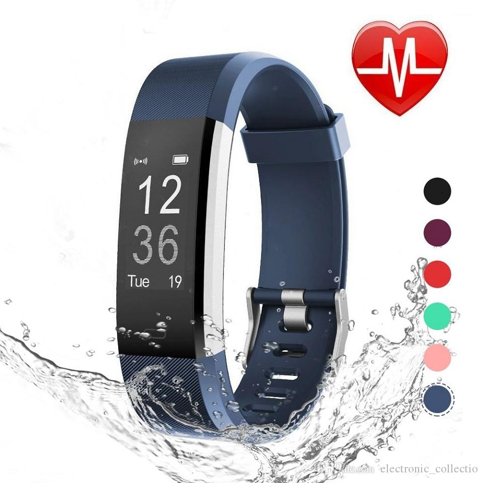 Smart Bracelet Fitbit, Activity Tracker Watch with Heart Rate Monitor, Waterproof Smart Fitness Band with Step Counter, Calorie Counter