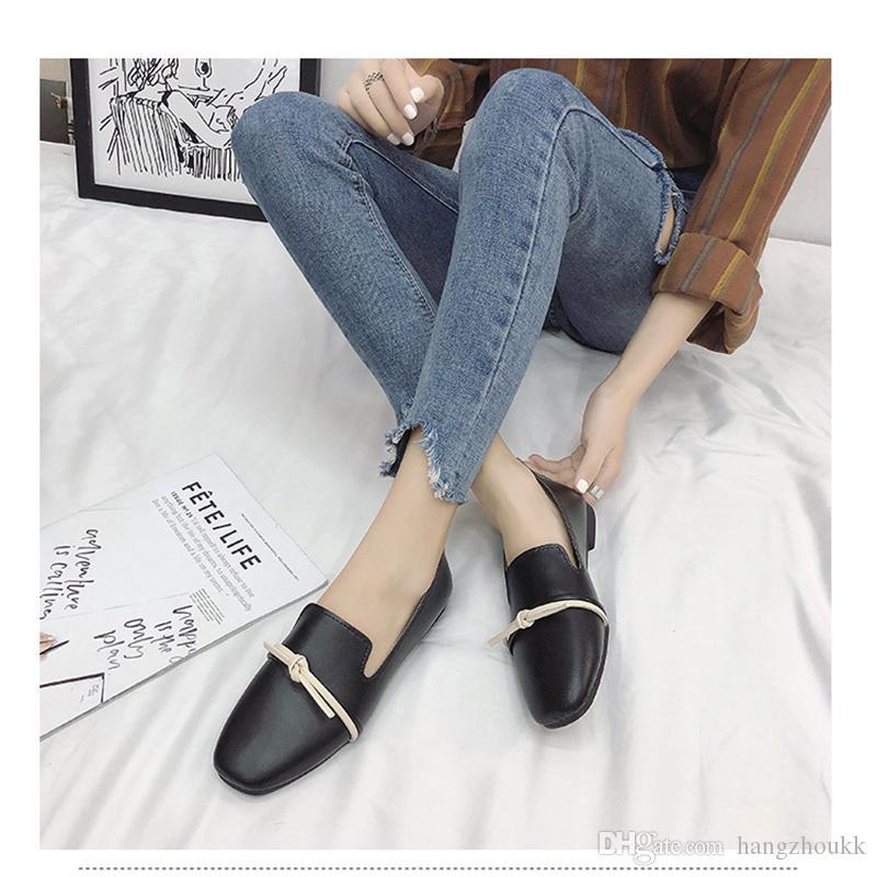 Scarpe da donna Tacco piatto Mocassini da donna Donna Lusso 2019 Nuove scarpe pigre Suola in gomma Moda Calzature casual comode