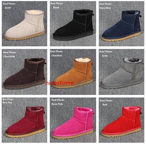 Frauen Damen Schneestiefel Australian Artkuh Veloursleder wasserdichte Winterstiefel Warm Ankle Boots Marke Ivg