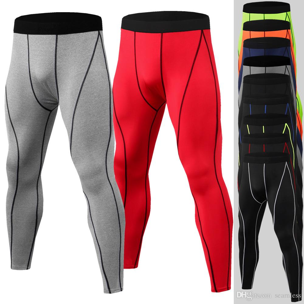 Wholesale Running Tights Men Sports Leggings Sportswear Long Trousers Yoga Pants Winter Fitness Compression Quick-drying Pants