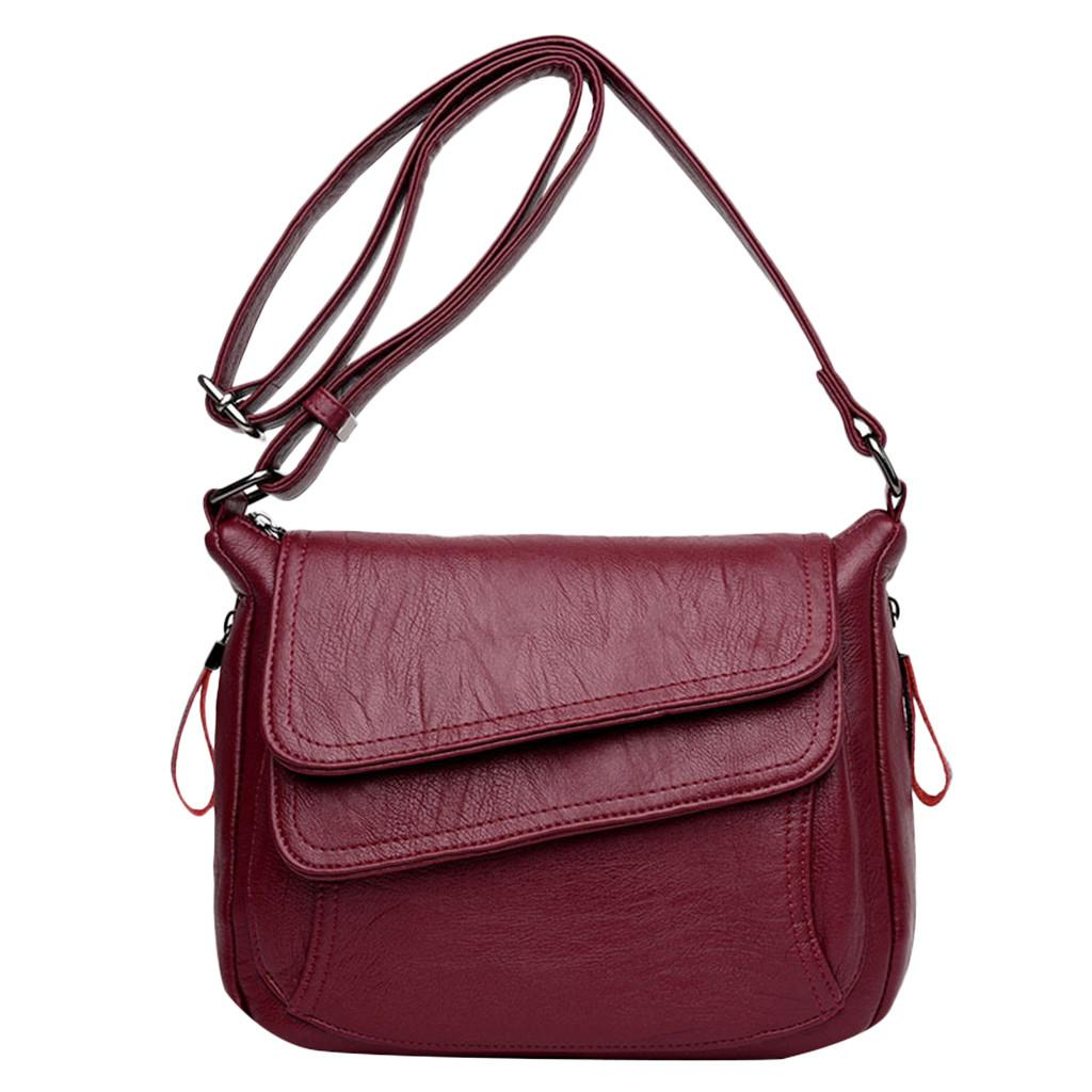 Mode weiche Leder-Umhängetasche Frauen wilde Messenger Bag Fashion Umhängetaschen für Frauen Bolsa Feminina # 38
