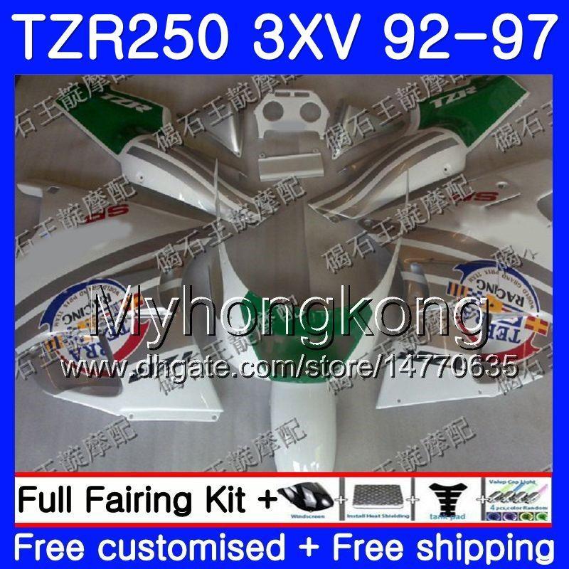 키트 YAMAHA TZR250RR 용 RS TZR250 92 93 94 95 96 97 245HM.30 TZR 녹색 흰색 고온 250 3XV YPVS TZR 250 1992 1993 1994 1995 1996 1997 페어링