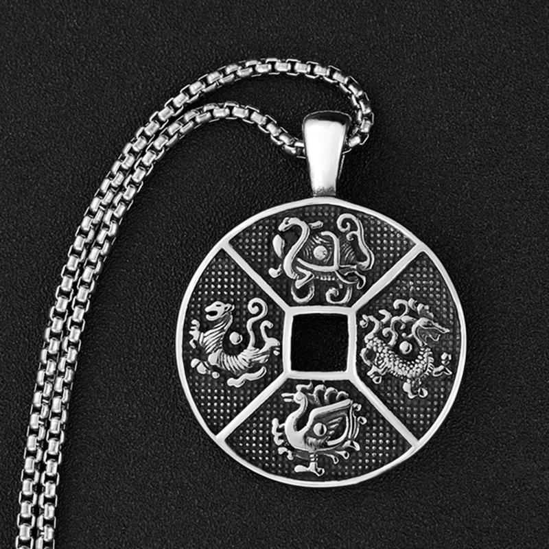 Wholesale Wholesale Vintage Viking Mjolnir Necklace Quake Pendant