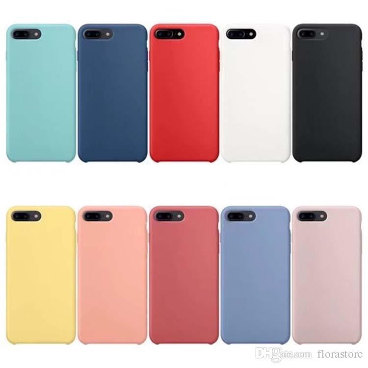 Custodia del telefono cellulare del logo originale del silicone del silicone colorato per Apple iphone 7 8plus xr x max 11 Pro 12 mini mini