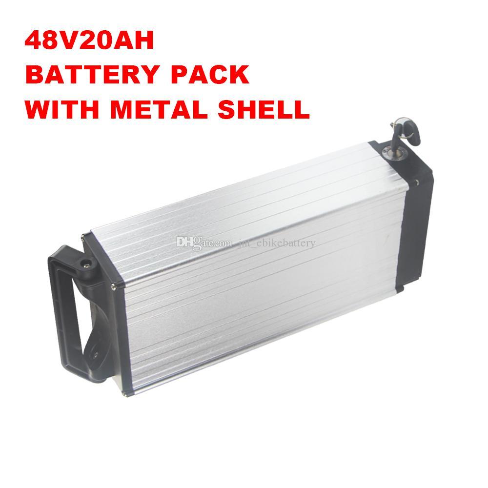 고용량 딥 사이클 충전식 48V 20AH 리튬 배터리 용 750W 1000W 1200W 모터 3A 충전기 무료 배송