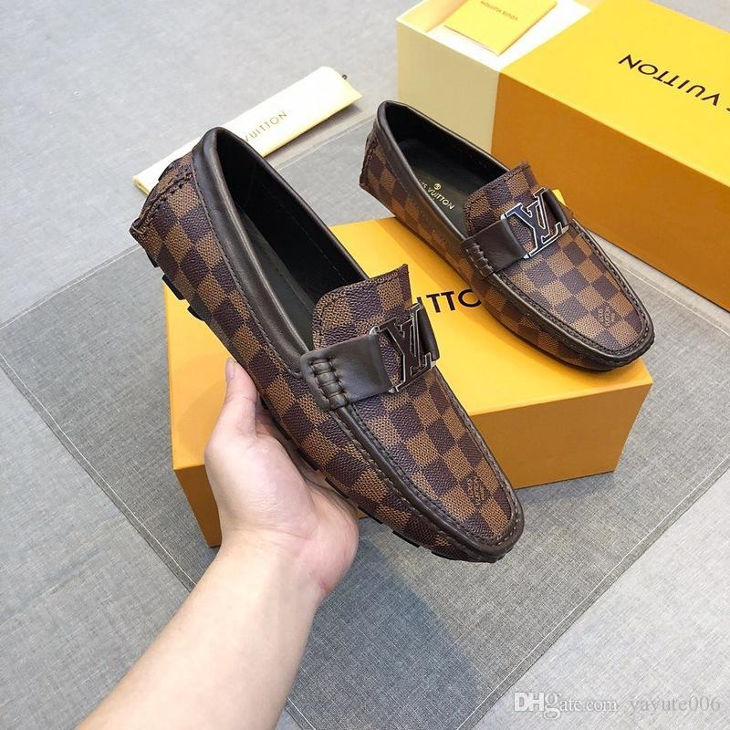 Newst Italian Men designers Top Quality Oxfords Male Formal Shoes Flats Business Casual Shoes Wedding and prom dresses shoes Big Size 38-45