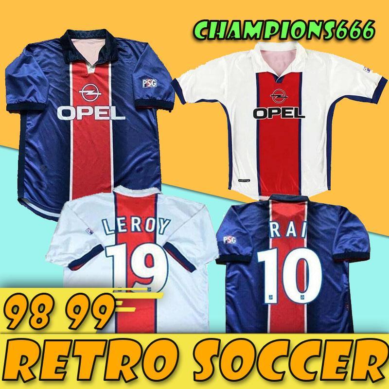 98 99 Maillot Jersey Retro football Wörns SIMONE OKOCHA 1998 1999 RAI LEROY classique de la maison loin camisas de futebol