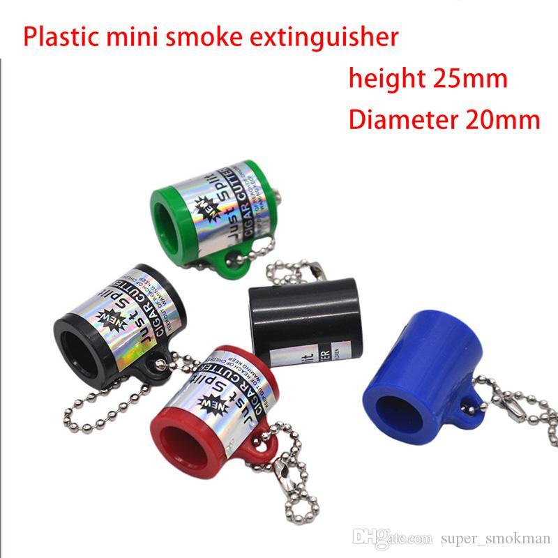 Plastique mini-accessoires de cigare de coupe-cigare extincteur de fumée portable Accessoires pour fumer émoussé avec connecteur porte-clés livraison gratuite