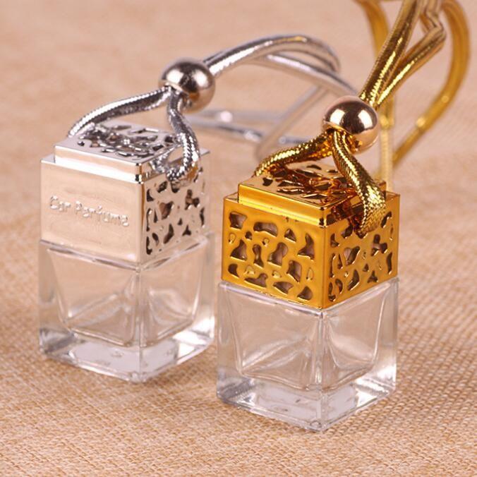 4colors voiture Parfum Hanging Cube Bouteille de parfum Désodorisant Huiles Essentielles Diffuseurs Parfum Bouteille vide Verre GGA3379-6