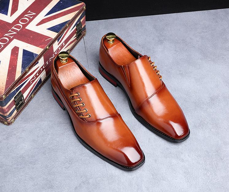 Business Dress Men Shoes New Classic Leather Men's Suits Shoes Slip On Formal Loafers Man Oxfords Size 38-48