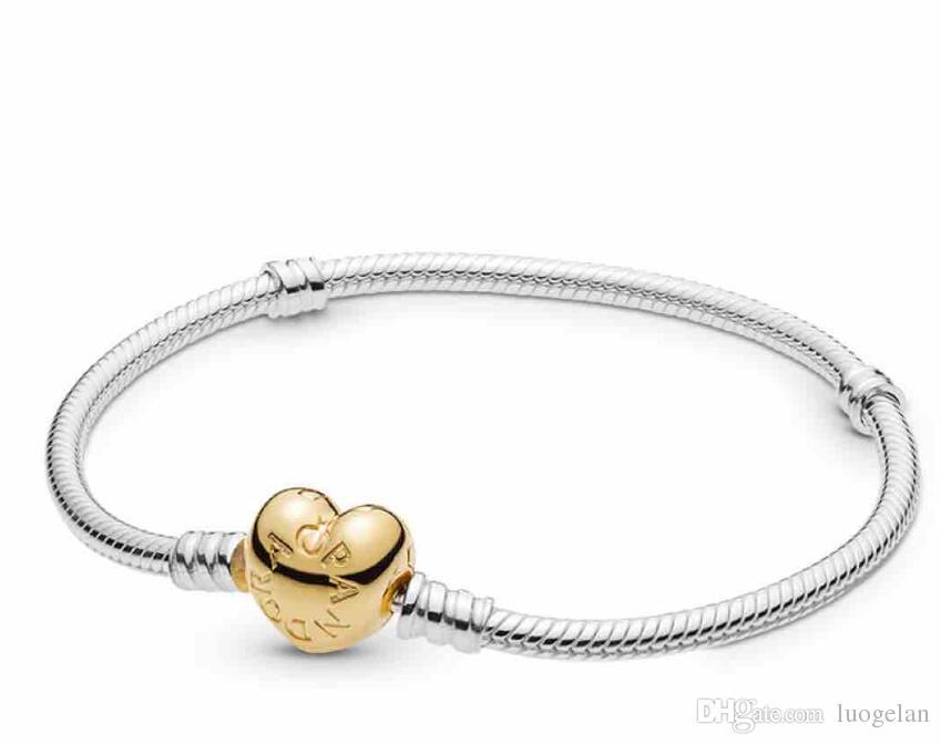 الموقد الذهب مطلي الأفعى سلسلة الأساور الفضية مع قفل جولة 2018 جديد أزياء فضية 925 مجوهرات أساور للنساء سوار