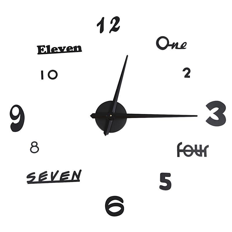 Творческий часы DIY настенные часы Европейский европейский стиль стикер стены акриловые 3D цифровой Clo
