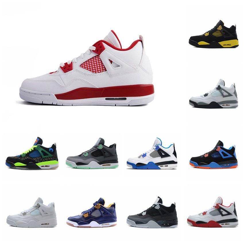 Com a caixa 4s sapatos mens basquete tênis 4s Branco Cimento Preto Vermelho 4 Superman Moda Sapatilhas Calçados Esportivos