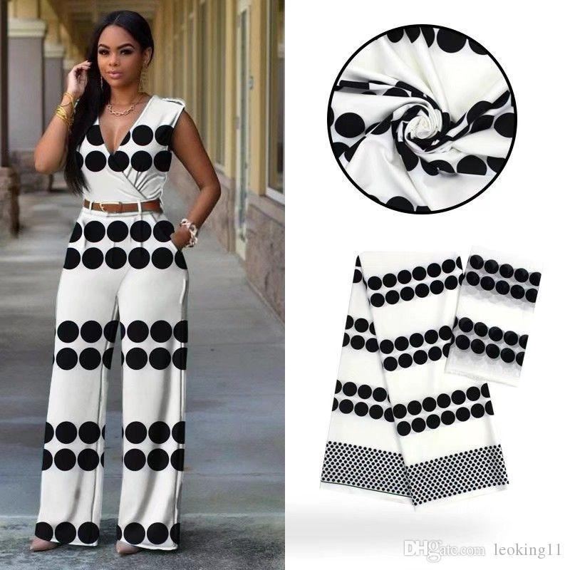 4Yards Beautiful white and black printed style african audel.modell silk lace fabric and 2Yards chiffon scarf for dress VS9-1