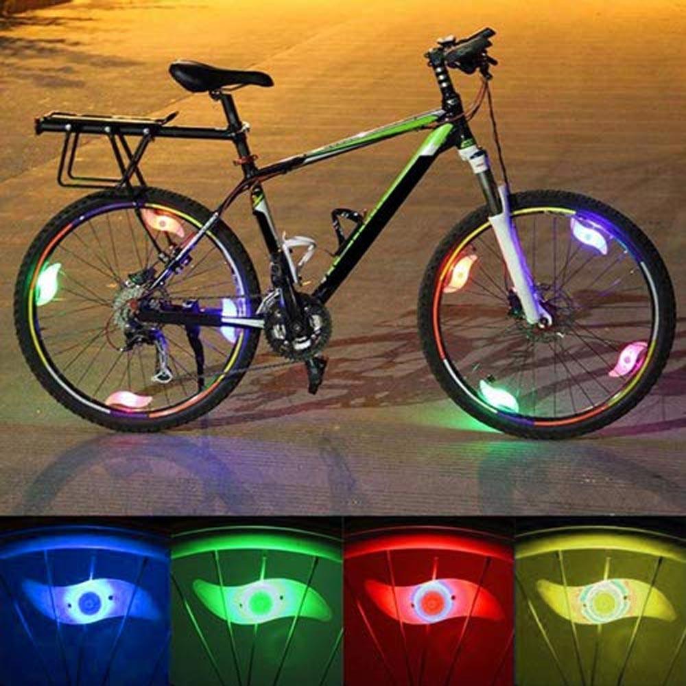 تكلم ضوء عجلة ضوء مع بطارية بالإضافة إلى بطارية دراجة الديكور ضوء الليل متعدد الألوان اختياري RGB / الأزرق / الأحمر / الأخضر
