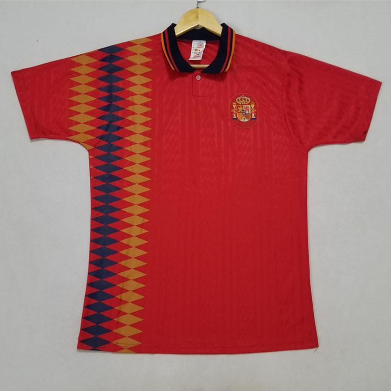Espanha Retro Mundo de 1994 copo de Futebol Início Red Guardiola LUIS ENSRIQUE camisa de futebol XAVI 94 Espanha vintage clássico