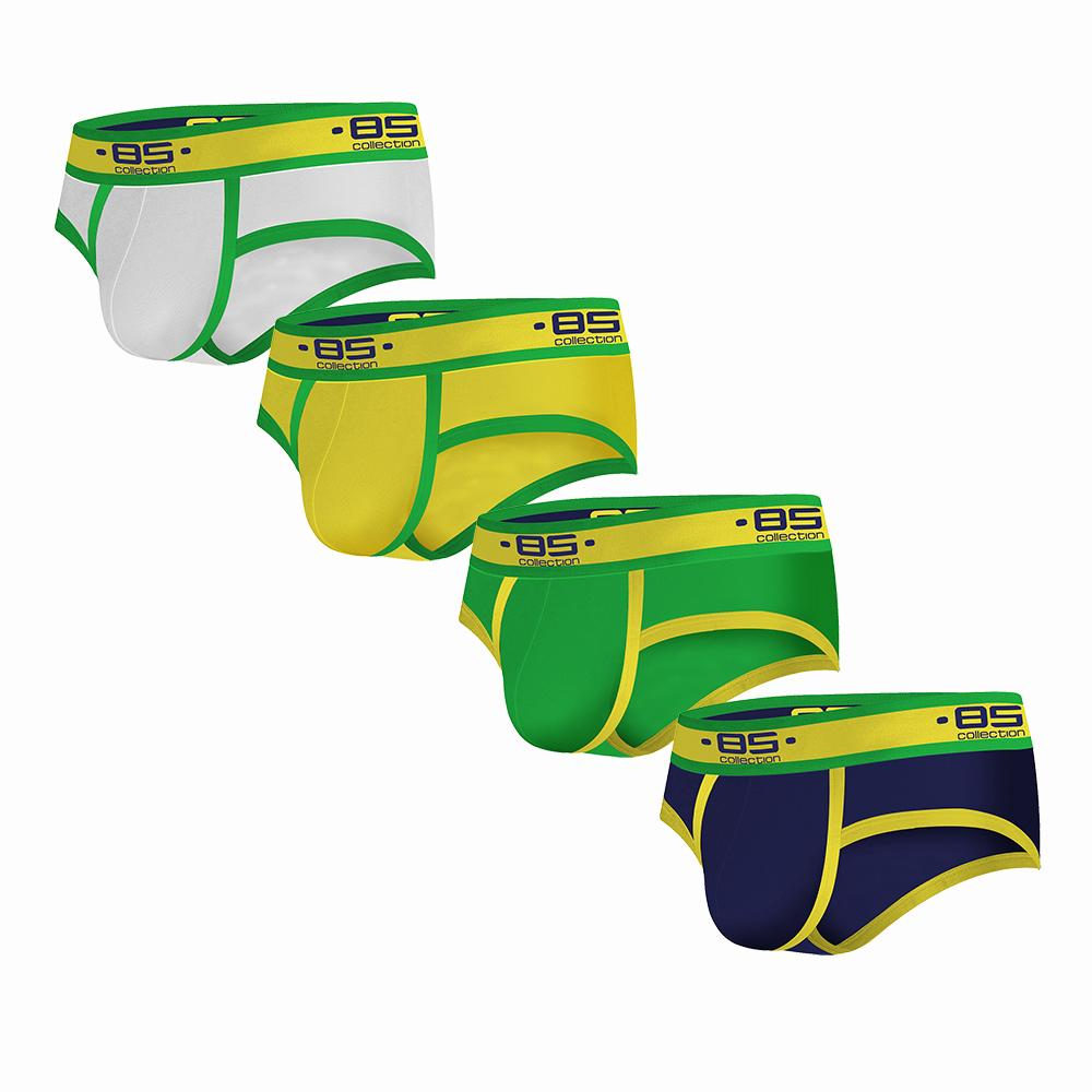 Bs Hot Sexy Men Briefs Underwear 4pcs/lot Mens Cotton Bikini Slip Male Panties Underpants Slip Hombre Men Gay Men Shorts Bs179 J190614