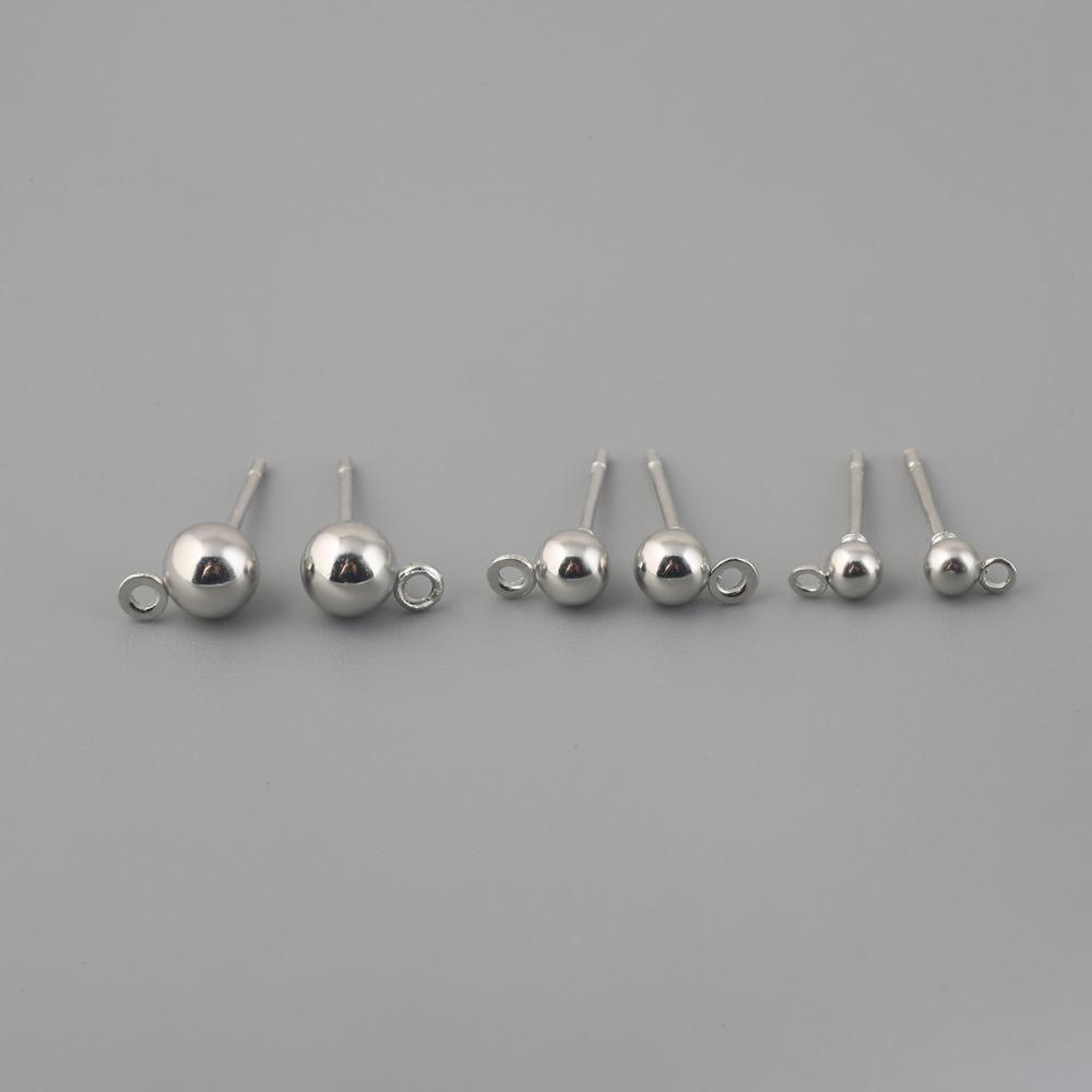 10set 3/4/5 mm Gold-Rhodium überzogene Metallbolzen-Ohrring-Rückseite Stoppers Blank Basis für DIY-Ohrringe Schmucksachen, das Zubehör