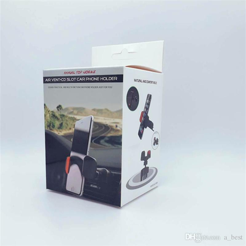 CD Slot Car Phone Holder 360 Degree Rotation Rotatable Car Mounts Air Vent Stand Mobile Cell Phone Bracket Compatible Support For iphone
