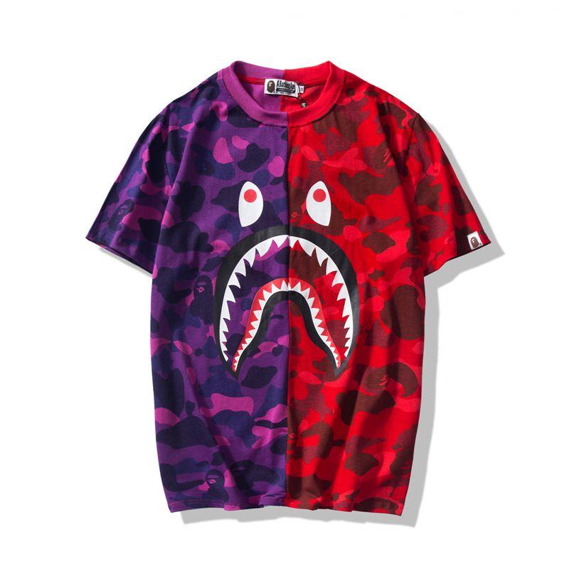 Men/'s Bape Purple Monkey Fashion Casual A Bathing white summer T-Shirt M-XXL