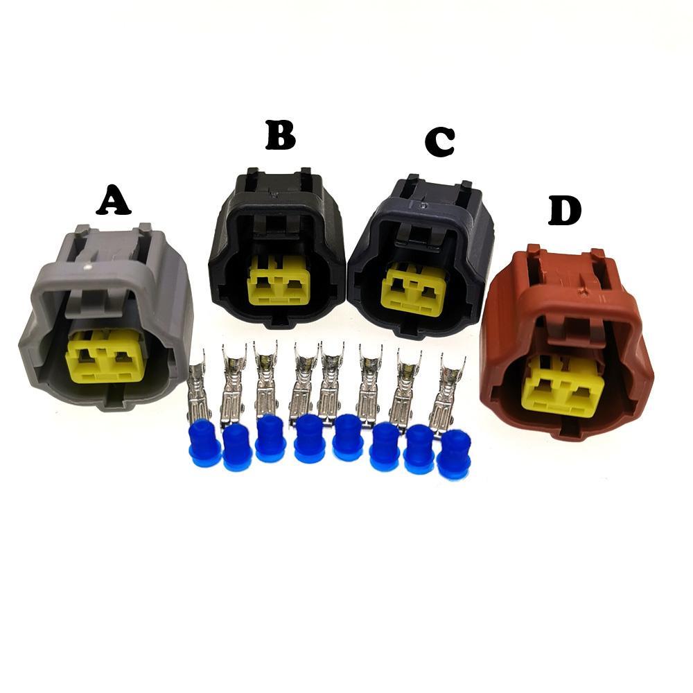 4 modèles 2Pin 1.8mm A / B / C / D connecteur type de voiture, prise capteur eau Temp moteur, moteur de voiture connecteur électrique pour Toyota, Honda