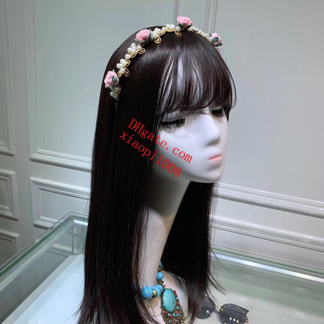 Encaje Heaband vendas del pelo de la cabeza al por mayor para las mujeres florales deportivos cintas de terciopelo alambre trenzado