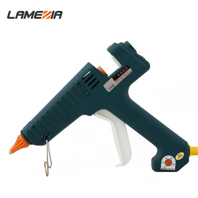 LAMEZIA 250W 100-240V Hot Glue Gun Crafts Repair Tool Professional Temperatura Ferramentas Repair Kit ajustável