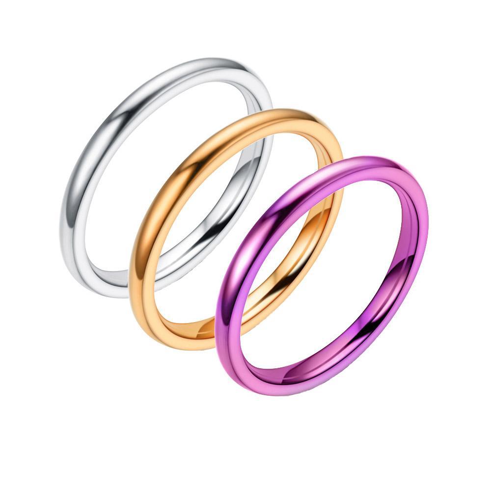 Românticos Exquisite Mulher Anéis 2mm as mulheres jóias cauda anel para o hip hop meninas navio queda de jóias