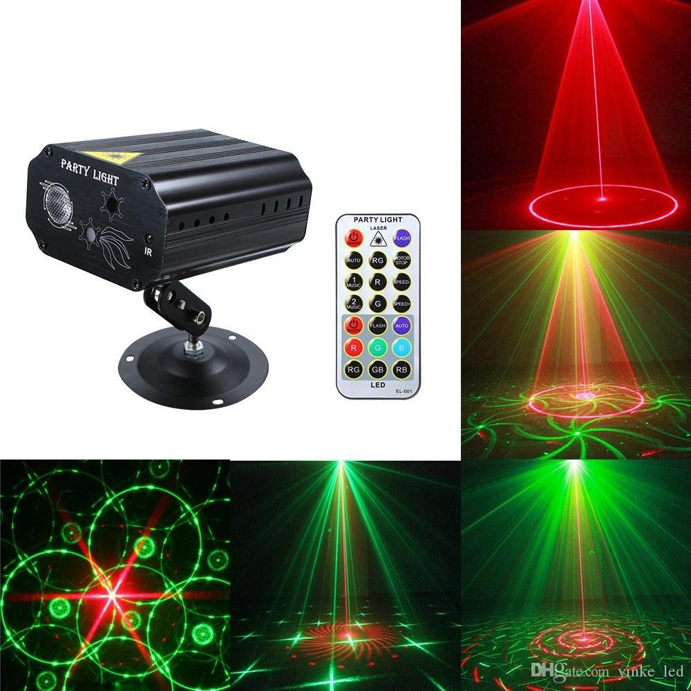 Portatile Led Laser Projector Lights Lights Auto Sound Effect Effect Light Lamp per disco DJ KTV Home Party Christmas