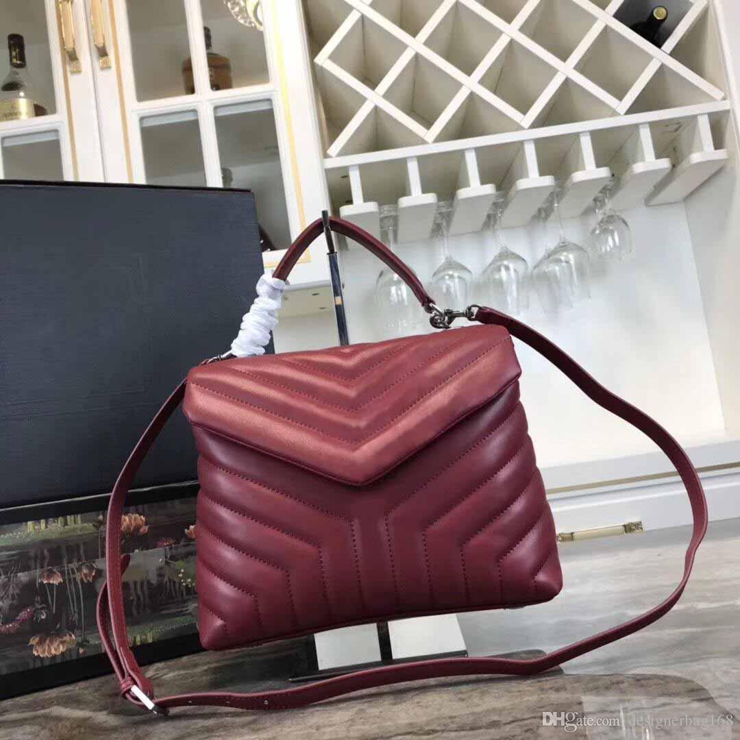 forma nuova di modo V Flap Bag Agnello Borsa a tracolla progettista borse in pelle di alta qualità di stile Guneine tracolla piccola borsa Tote Bag