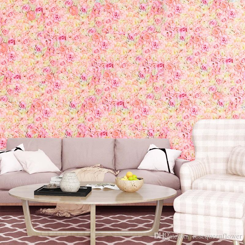 60*40cm Promoting Low-cost Rose Hydrangea Flower Wall for Home Wedding Birthday Party Supplies Decoration Atificial Flower