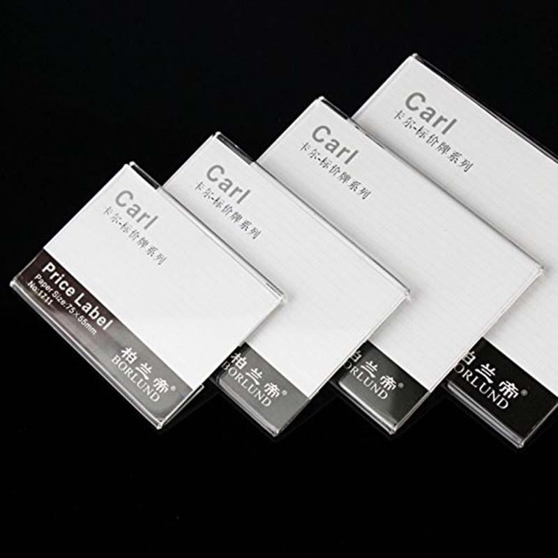 40шт этикетка дисплей кронштейны акриловые прозрачные этикетки ценник бумажные карты дисплей мольберты кронштейн офис меттинг