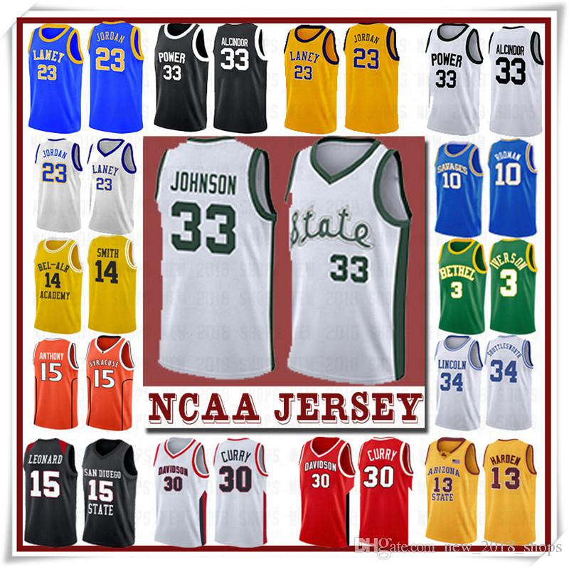 NCCA Jersey Kawhi Leonard James Iverson Männer 23 LeBron Durant 13 Harden Curry Stephen College Basketball Jerseys Russell Westbrook Men5