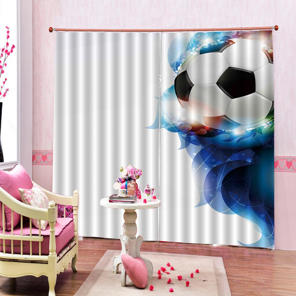 2020 Custom Football Fantasy Flowers Curtains 3d Photo Print Children Boys Room Bedroom Blackout Drapes Sets 2 Panels With Hooks From A1048874333 51 15 Dhgate Com