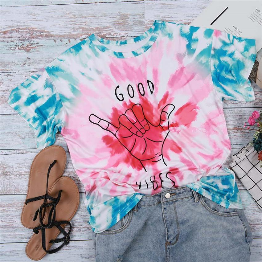 Moda T-shirt Mulheres tingido laço Top Mulheres camiseta manga curta Verão Tops rosa bonito T Shirt Carta Imprimir Top Lady Streetwear